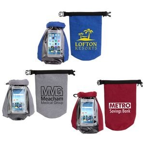2-Liter Waterproof Gear Bag with Touch-Thru Phone Pocket