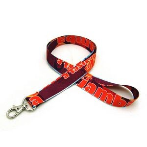 "3/4"" Digitally Sublimated Lanyard w/ Deluxe Swivel Hook"