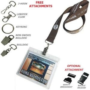 "1/2"" Polyester Lanyards w/Badge Holder (12mm)"